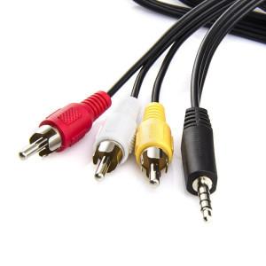 Кабель Audio mini-jack - 3 RCA 5м