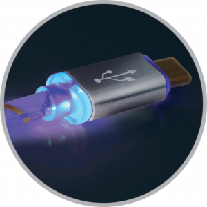 Кабель Apple Lightning/USB 1m, LED подсветка