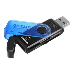 Кардридер Ginzzu GR412B USB 2.0