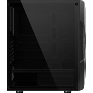 Корпус ATX BoxIT 4709BB Midi-Tower ATX без БП RGB лента