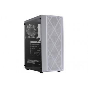 Корпус Powercase Rhombus X4 White Tempered Glass Mesh