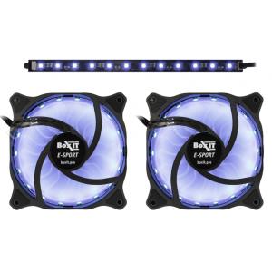 Комплект вентиляторов BoxIT E-Sport 120mm RGB LED Hydro Fan x 2 + RGB LED Лента + ПДУ