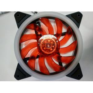 Вентилятор корпусной с кольцевой подсветкой Red LED 120мм