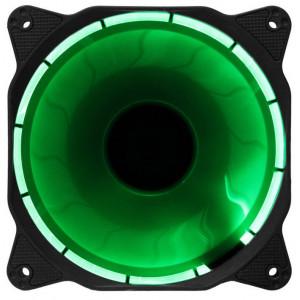 Вентилятор корпусной с кольцевой подсветкой Green LED 120мм