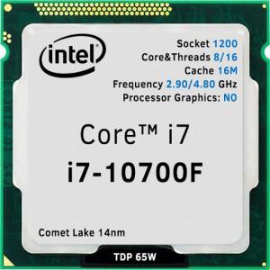Процессор INTEL Core i7 10700F (2.9 - 4.8 Ghz) LGA 1200 OEM