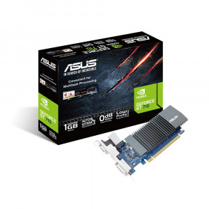 Видеокарта ASUS nVidia GeForce GT 710 , GT710-SL-1GD5, 1ГБ, GDDR5, Ret