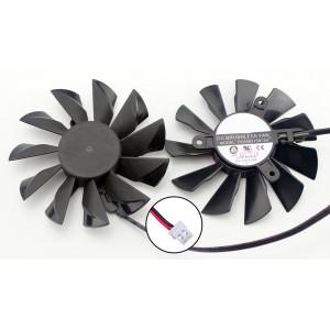 Вентилятор для видеокарт MSI GT640/ GTX550/ GTX650/ GTX950/ HD7750/ HD7770/ R7 250 PLA09215S12L 87mm 2pin