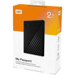 Внешний HDD накопитель WD My Passport 2Tb (WDBYVG0020BBK-WESN) USB 3.0