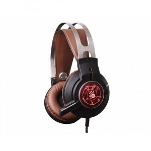 Наушники A4Tech Bloody G430 Black-Brown с микрофоном
