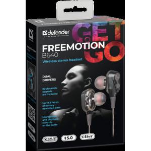 Наушники Defender FreeMotion B640 беспроводные черные