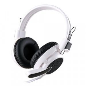 Наушники DeTech Kanen A66 White/Black с микрофоном