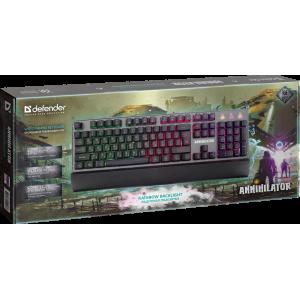 Игровая клавиатура Defender Annihilator GK-013 RGB подсветка