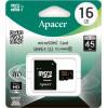 Карта памяти MicroSD Apacer 16GB Class 10 + adapter