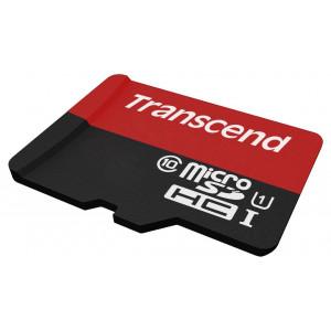 Карты памяти MicroSD Transcend 16GB Class 10 + adapter
