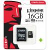 Карта памяти MicroSD Kingston 16Gb Class 10 + adapter