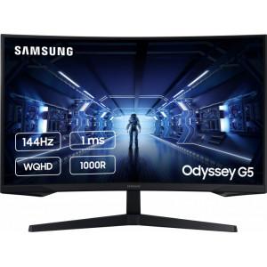 "Изогнутый монитор Samsung C32G55TQWI 32"", Quad HD 2560x1440, 144 Hz"