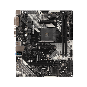 Материнская плата ASROCK A320M-DVS R4.0, SocketAM4, AMD A320, mATX, Ret
