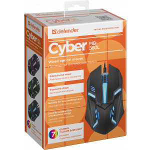 Мышь Defender Cyber MB-560L Black