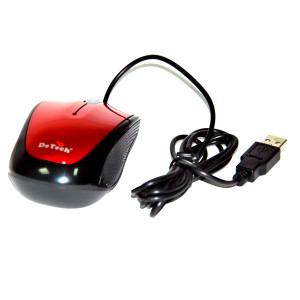 Мышь DeTech DE-3062 Shiny Red