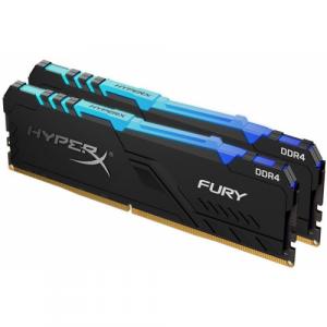 Оперативная память 16Gb 2x8GB/3200 Kingston HyperX Fury RGB (HX432C16FB3AK2/16) DDR4 (Kit of 2)