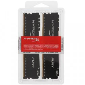 Оперативная память 16Gb 2x8GB/3733 Kingston HyperX Fury Black (HX437C19FB3K2/16) DDR4 (Kit of 2)