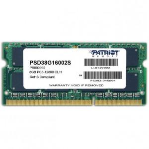 Оперативная память Patriot 8GB DDR3 1600MHz SO-DIMM
