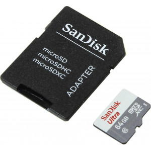 MicroSDXC 64GB SanDisk Ultra Class 10 UHS-I+adapter