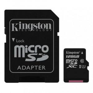 MicroSDXC 128GB Kingston Class 10/UHS-I U1+adapter