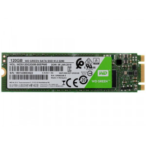 SSD накопитель WD Green 120GB M.2 2280 (WDS120G2G0B)