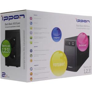 Источник бесперебойного питания IPPON Back Basic 850 Euro, 850ВA
